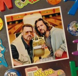The BIG LEBOWSKI Movie Dude Walter Funny Fridge Magnet Bowling Alley Gift