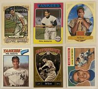 "⚾️HOF Phil Rizzuto 6-CARD LOT including 2011 ""60 Years Of Topps,"" NY Yankees"