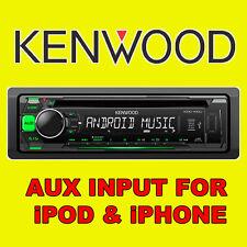KENWOOD automóvil CD USB Radio estéreo Reproductor de unidad de cabeza de sintonizador iPOD/iPHONE AUX entrada