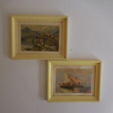 2 reproductions impressionnistes encadrées vintage XXe art déco design PN France