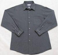 Van Heusen Fitted Gray Pocket Dress Shirt 16.5 34/35 Large Long Sleeve Mens Top