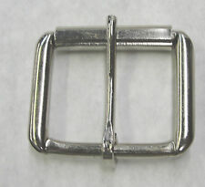 """100 piece 1-1/2"""" Nickel Plated Steel Roller Belt Buckles Lot High Quality New"""