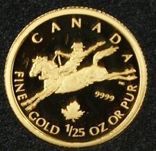 2006 Canada 50 Cent 1/25oz Gold Proof Coin Cowboy w/Box & COA