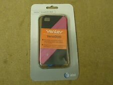 AT&T 3 Piece Ventev VersaDUO Shell Blue/Pink/Silver iPhone 4/4S 385645A