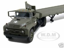 FORD F-800 FLATBED TRAILER U.S. ARMY 1:50 DIECAST MODEL CAR FIRST GEAR 50-3088