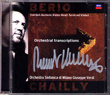 Riccardo CHAILLY Signed BERIO Transcriptions Purcell Boccherini Schubert Bach CD