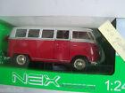 miniature VW T1 bus, bicolore 1:24 Welly volkswagen ref 22095w combi 1963