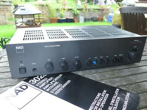 NAD 3020B HiFi Stereo Integrated Amplifier, Classic Audio Amplifier, Phono Input