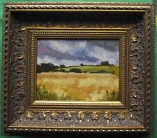 Corn Field Storm : Original Impressionist Oil Painting on Board : Shaun Viney