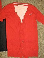 HOLLISTER CALVIN KLEIN womens szSMALL S MEDIUM M orange sweater peach shirt lot
