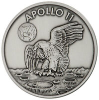 1969-2019 Apollo 11 Robbins Medal 1 oz Silver Antiq  Matte Proof Medal SKU55133