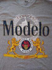 Modelo 1925 Cerveza Mexico Beer Graphic Lion Logo Shirt Gray Men's 2XL XXL NWOT