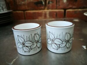PAIR OF HORNSEA CHARISMA EGG CUPS IN GOOD CONDITION 4.5 CMS X 4.5CMS