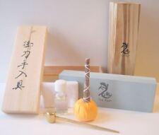 Japanese Katana Ninjato Sword Tanto Knife Sharpening Stone Whetsone Cleaning Kit