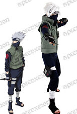 Naruto Kakashi Hatake Cosplay Costume Full Set Mask Wig Shoes Gloves Costume