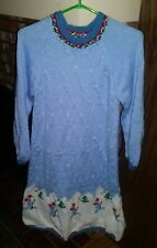 Handmade winter snowman dress for girl size 12 -13 year old