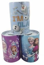 Lot of 3 Disney Frozen Anna Elsa Tin Bank Birthday Party Favor Decoration