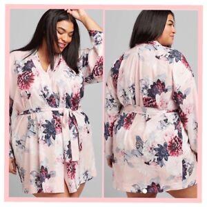 NWT Cacique Plus Size Lane Bryant Crepe Garden Blooms Kimono Robe 22 24 2x3x $64