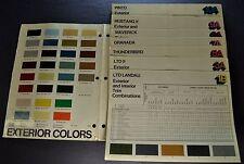 1977 Ford Color & Upholstery Brochure LTD Mustang II Pinto Maverick Thunderbird