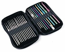 Crochet Hook Set - 24 Piezas. 16 X 8 x de aluminio de acero & Ganchos Tamaños 0.75 - 6.5mm