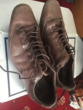 Men's Peter Werth Smart Trainers Brown Leather Size 7