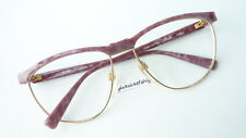 Women's Glasses Markenfassung Butterfly Large Gold Rose Silhouette 6081 Size M