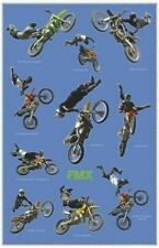 MOTOCROSS ~ FREESTYLE TRICKS COLLAGE 24x36 POSTER Big Air Motorcycle Motorcross