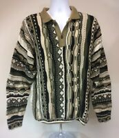 Men's Tosani Canada Multicolor Sweater Size XL 100% Cotton.