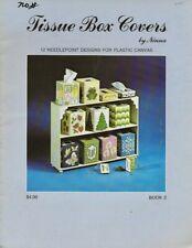 Vintage 1991 Tissue Box Covers in Plastic Canvas Leaflet  - Virginia Winecoff