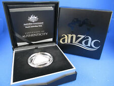 2015 $5 FINE SILVER PROOF TRIANGULAR COIN . ANZAC CENTENARY . ABSOLUTELY SUPERB!