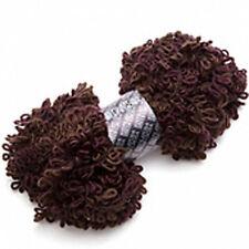 Filatura Di Crosa Asoletta Super Bulky Boucle Yarn #15 Mahogany Brown Knit