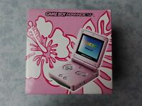 CONSOLE NINTENDO GBA GAME BOY ADVANCE SP *ROSA PINK* AGS-101 ORIGINALE COMPLETO