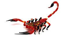 Red Glass Scorpion Figurine Glass Scorpio Scorpion  Miniature Insects