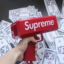 Fun Cash Money Gun In Box Relax Toy Gift + 2*50PCS Custom Dollar Bills