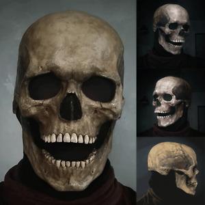 Masque Squelette Halloween Latex Realiste Fete Peur Nuit Jeux Crane Decoration