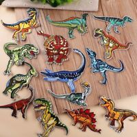 Dinosaur Embroidery Patch Iron On Sew On Badge Clothes Fabric Applique Craft AU