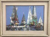 PAUL AUGUST KONTNY (1923-2002) - Listed Colorado Artist - Sailboats - Signed