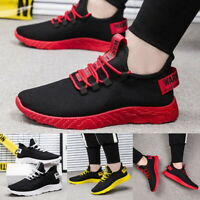 Fashion Mens Sneakers Trainers Breathable Sport Running Boys Casual Shoes Gym HA
