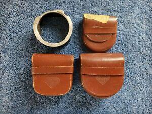Vtg Rolleiflex Reflex Camera Leather Case Germany Lens Lt Hood R 11 Rollei F&H 4