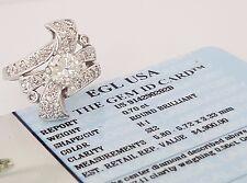 Vintage 1.26 ct 14K White Gold Round Diamond Engagement Ring EGL-USA Rtl $4,900