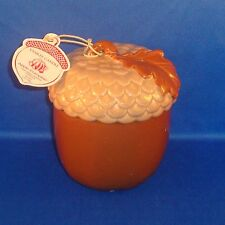 Yankee Candle - Apple Pumpkin Scented Candle in Ceramic Acorn Holder 7 oz. - NEW