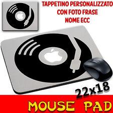Mouse Pad Vinile disco Apple Giradischi Tappetino personalizzato con foto,nome e