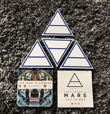 """6 rare 30 Seconds to Mars Official """"This Is War"""" Stickers / Jared Leto"""