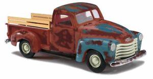 HO 1:87 Busch # 48235 - 1950 Chevrolet Pickup Truck - Rusty Blue