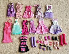 Barbie Doll Lot of 12 Dresses and 12 Pairs of Shoes/Boots