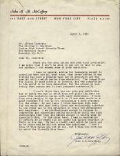JOHN K. M. McCAFFERY - TYPED LETTER SIGNED 04/03/1961