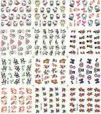 12 Design Cartoon Decals Water Transfer Nail Sticker Set Nail Art NS160