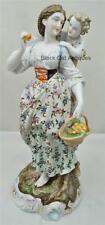 Impressive Antique 1760's Volkstedt Mother and Child Fine Porcelain Lg Figurine