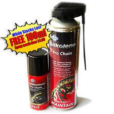 Silkolene Pro Chain Lube Fully Synthetic Chain Lubricant 500ml PLUS 100ml Spray