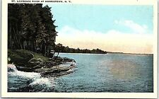 Postcard NY St. Lawrence River At Morristown I2-1